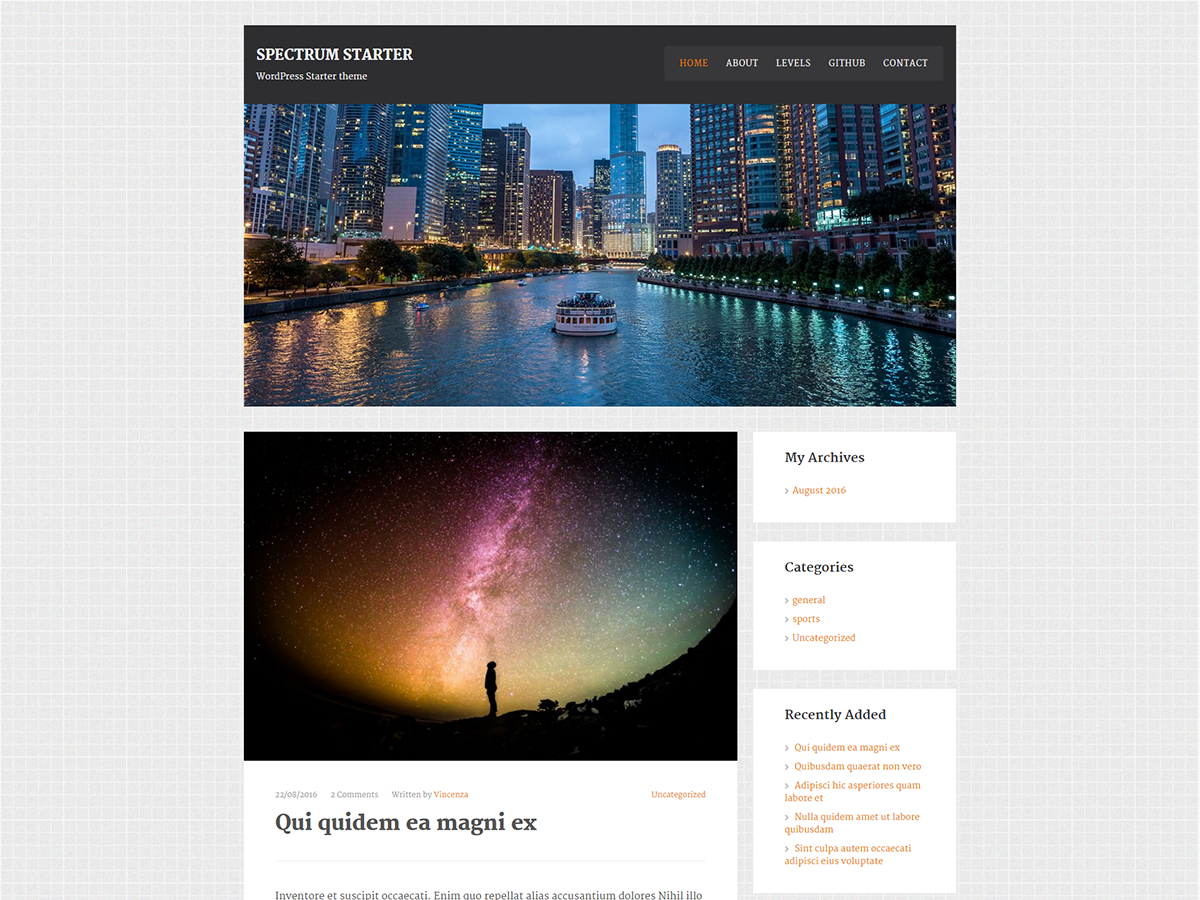 SpectrumStarter Preview Wordpress Theme - Rating, Reviews, Preview, Demo & Download