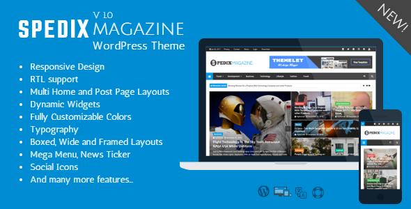 Spedix Preview Wordpress Theme - Rating, Reviews, Preview, Demo & Download
