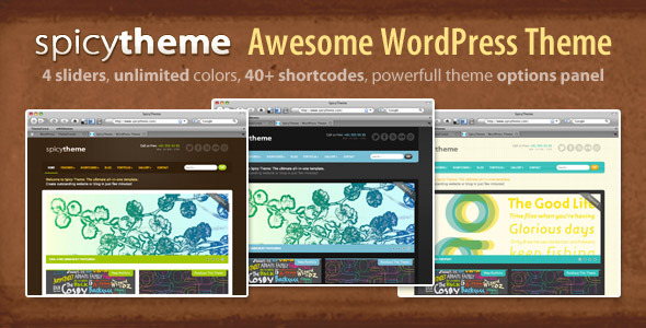 Spicy Theme Preview Wordpress Theme - Rating, Reviews, Preview, Demo & Download