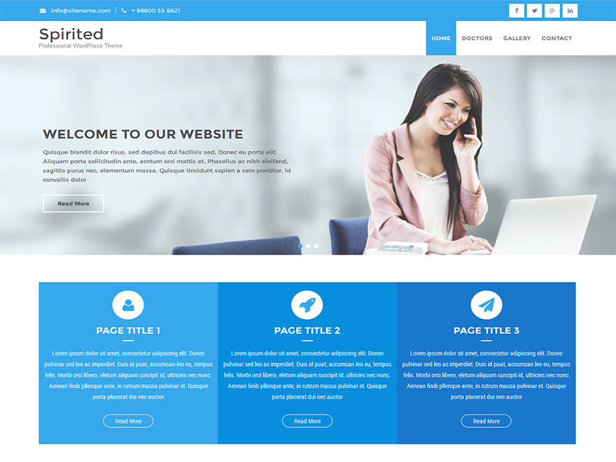 Spirited Lite Preview Wordpress Theme - Rating, Reviews, Preview, Demo & Download