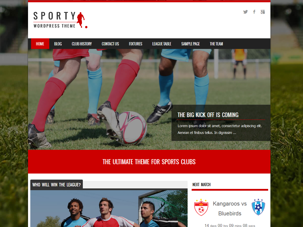 Sporty Preview Wordpress Theme - Rating, Reviews, Preview, Demo & Download