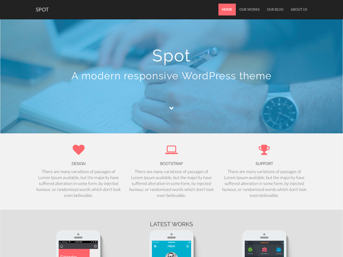 Spot Preview Wordpress Theme - Rating, Reviews, Preview, Demo & Download