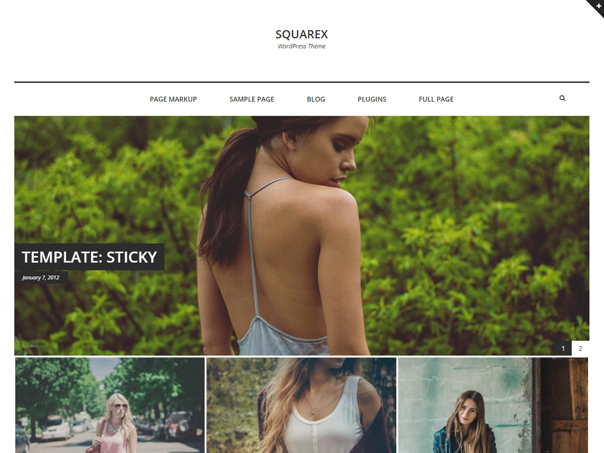 Squarex Lite Preview Wordpress Theme - Rating, Reviews, Preview, Demo & Download