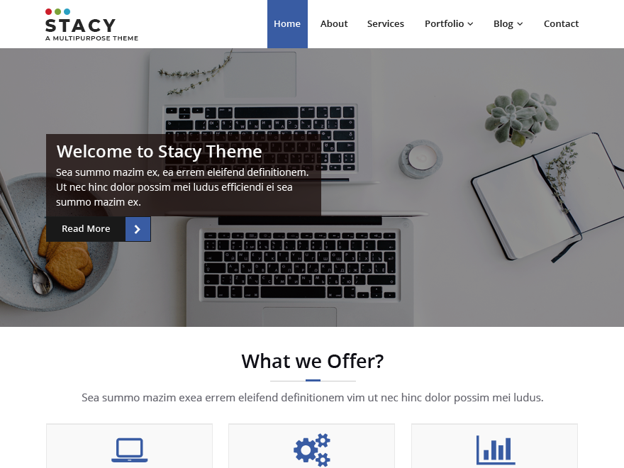Stacy Preview Wordpress Theme - Rating, Reviews, Preview, Demo & Download