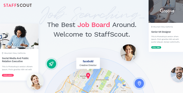 StaffScout Preview Wordpress Theme - Rating, Reviews, Preview, Demo & Download