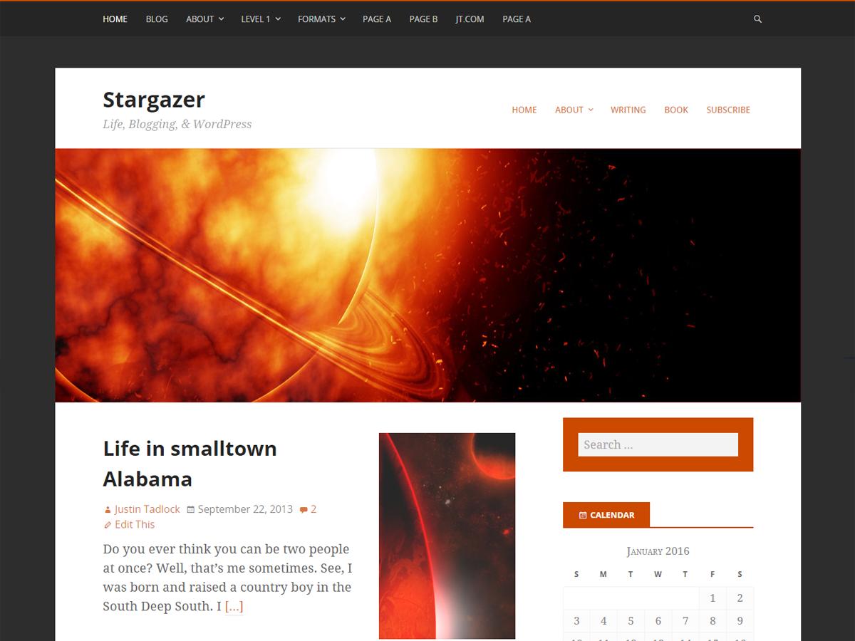 Stargazer Preview Wordpress Theme - Rating, Reviews, Preview, Demo & Download