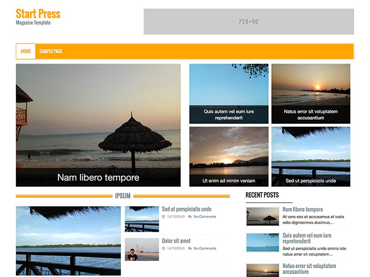 Start Press Preview Wordpress Theme - Rating, Reviews, Preview, Demo & Download