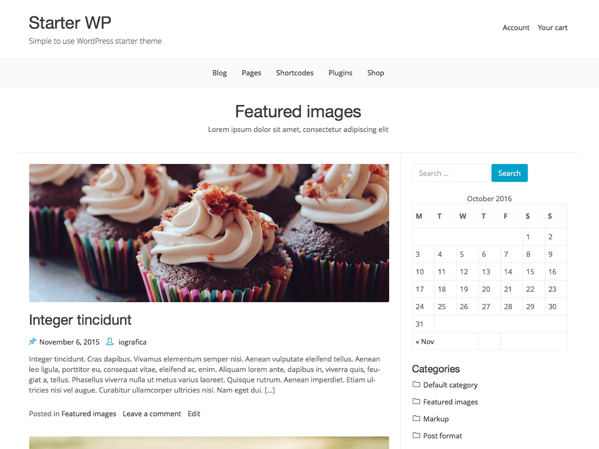 Starter WP Preview Wordpress Theme - Rating, Reviews, Preview, Demo & Download