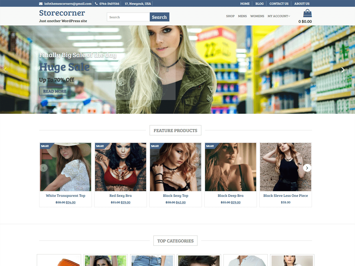 Store Corner Preview Wordpress Theme - Rating, Reviews, Preview, Demo & Download