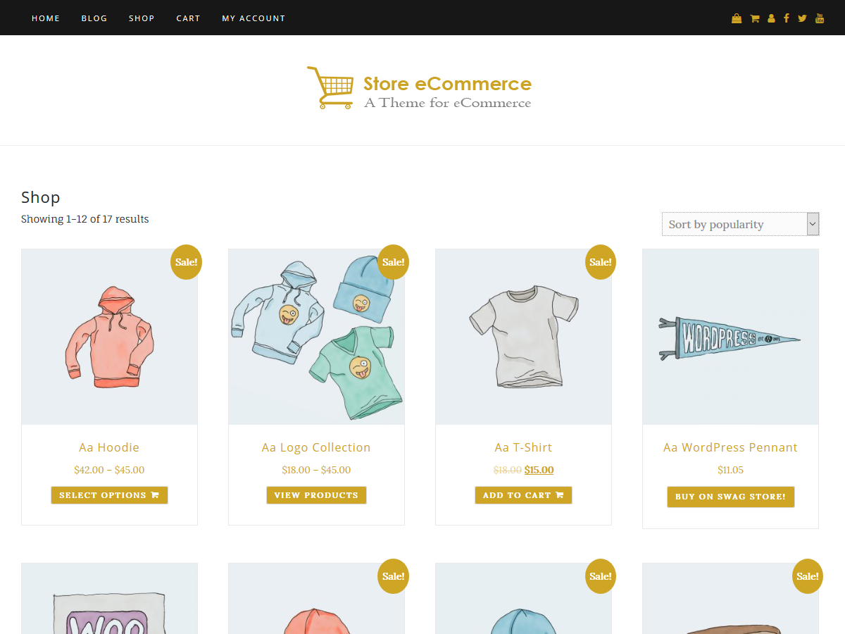 Store ECommerce Preview Wordpress Theme - Rating, Reviews, Preview, Demo & Download
