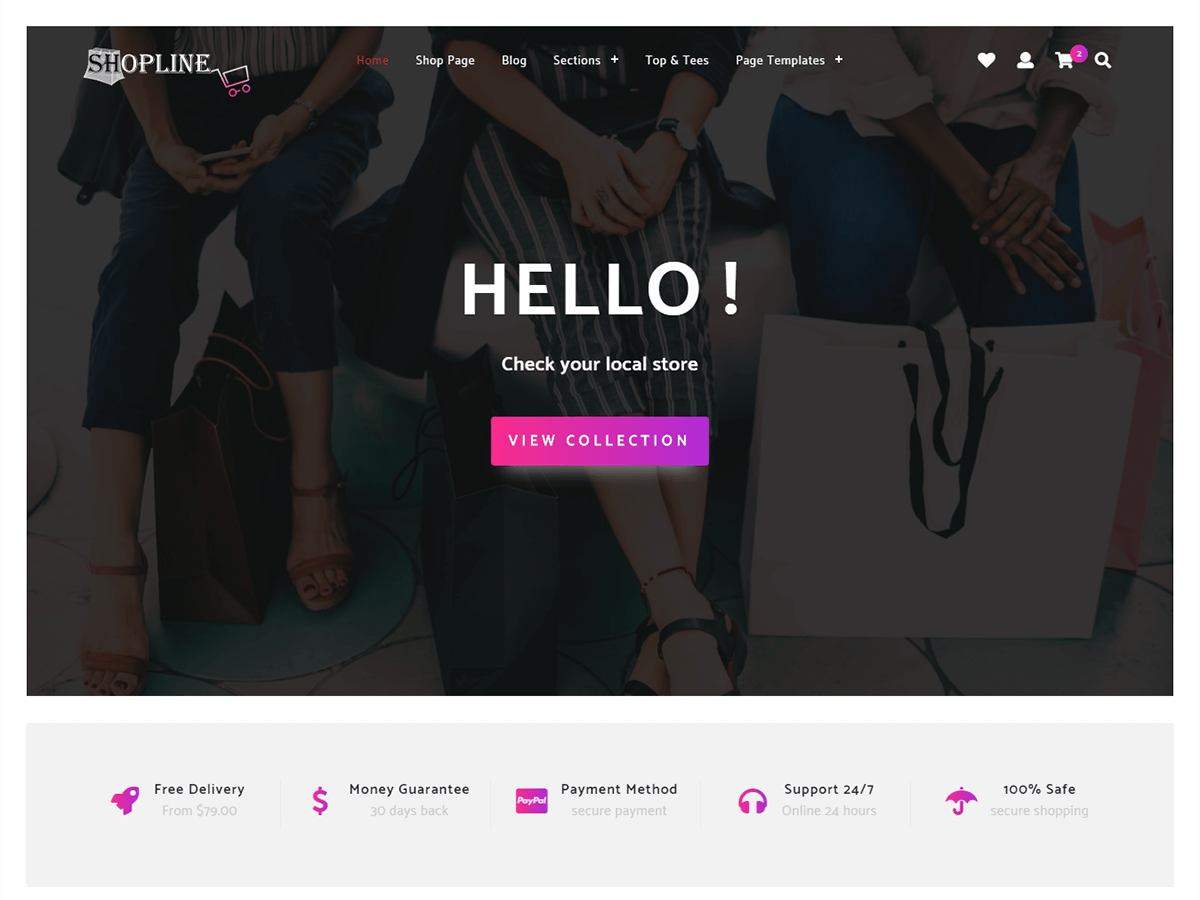 Store Shopline Preview Wordpress Theme - Rating, Reviews, Preview, Demo & Download