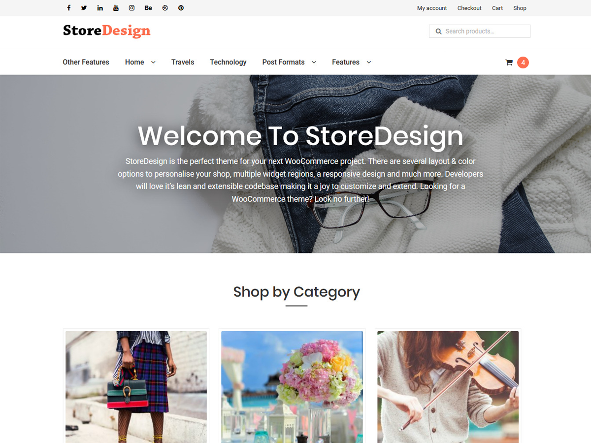 StoreDesign Preview Wordpress Theme - Rating, Reviews, Preview, Demo & Download