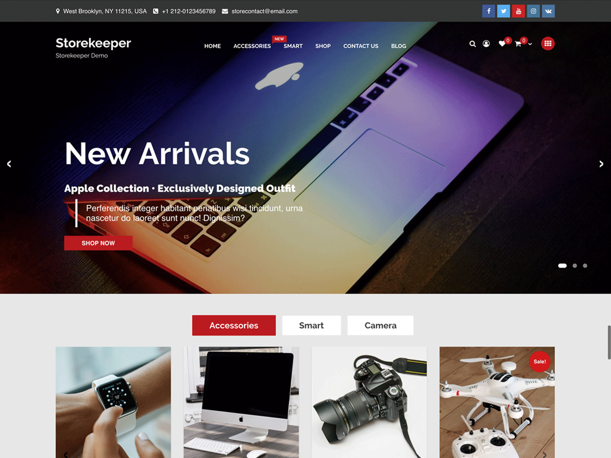 Storekeeper Preview Wordpress Theme - Rating, Reviews, Preview, Demo & Download