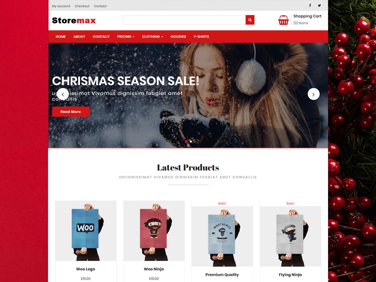 Storemax Preview Wordpress Theme - Rating, Reviews, Preview, Demo & Download