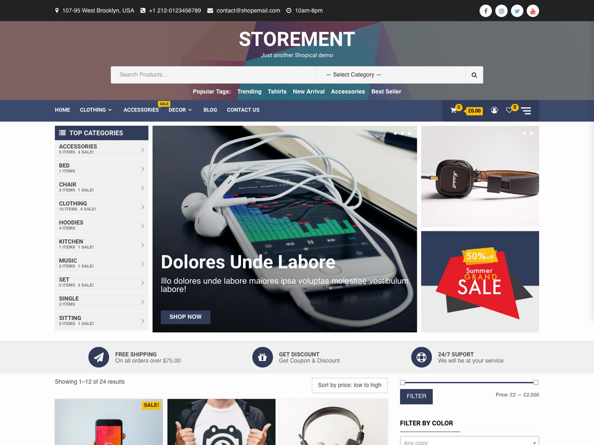 Storement Preview Wordpress Theme - Rating, Reviews, Preview, Demo & Download