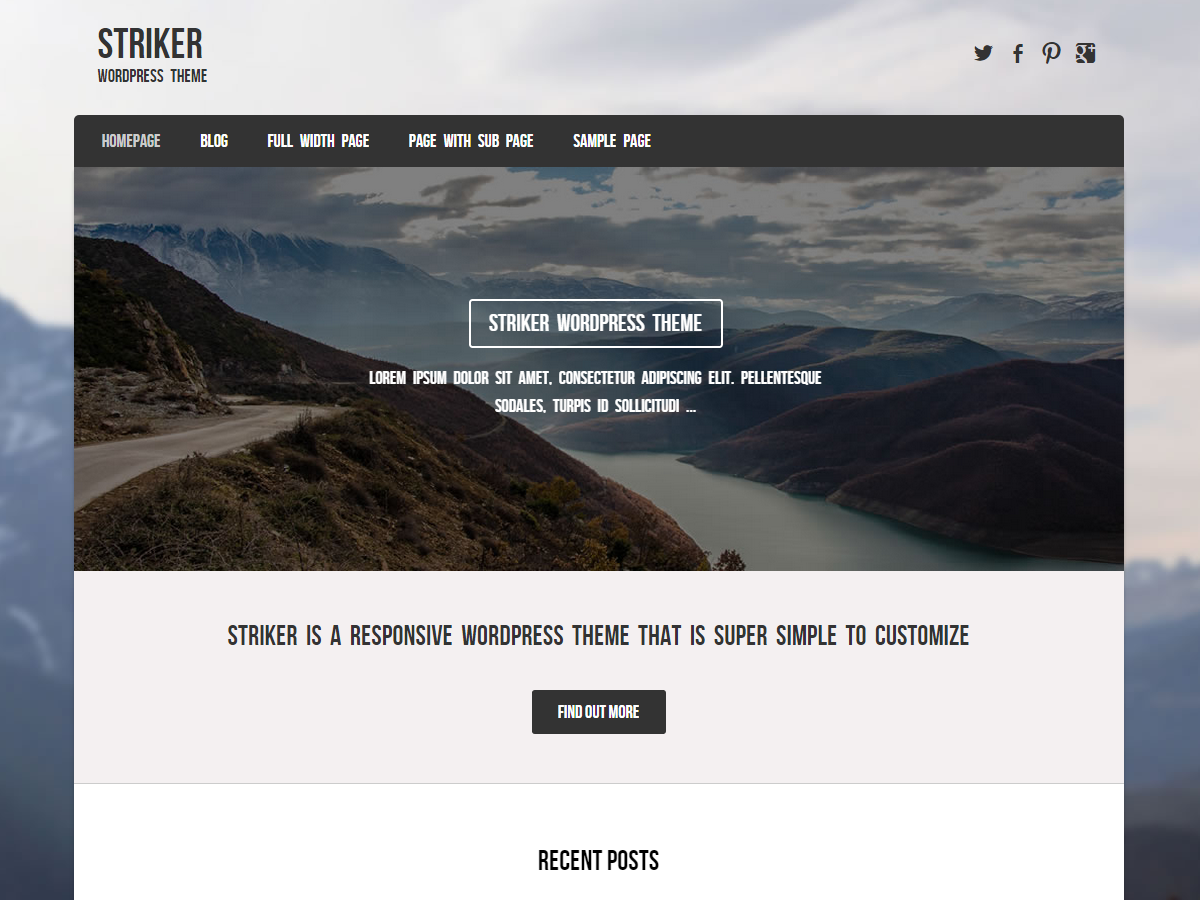 Striker Preview Wordpress Theme - Rating, Reviews, Preview, Demo & Download