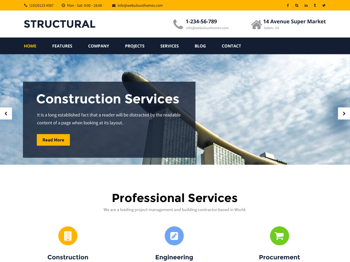 Structural Preview Wordpress Theme - Rating, Reviews, Preview, Demo & Download