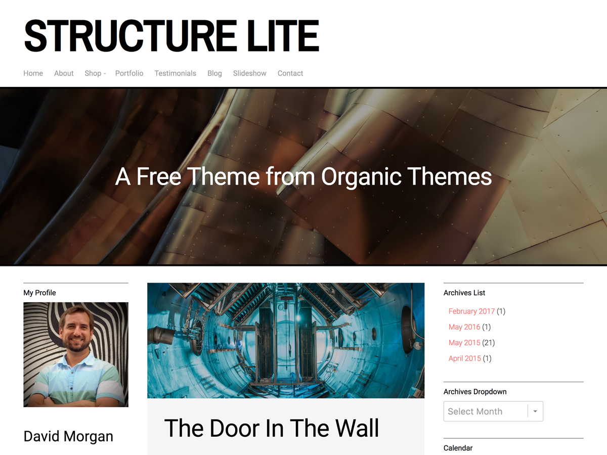 Structure Lite Preview Wordpress Theme - Rating, Reviews, Preview, Demo & Download