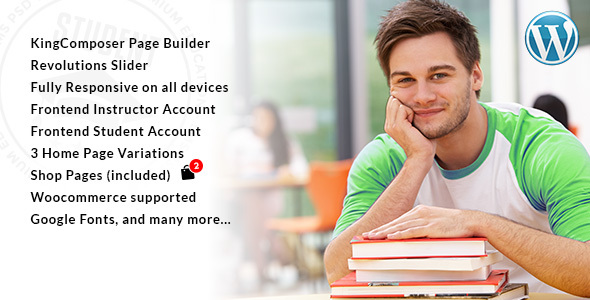 Student Preview Wordpress Theme - Rating, Reviews, Preview, Demo & Download