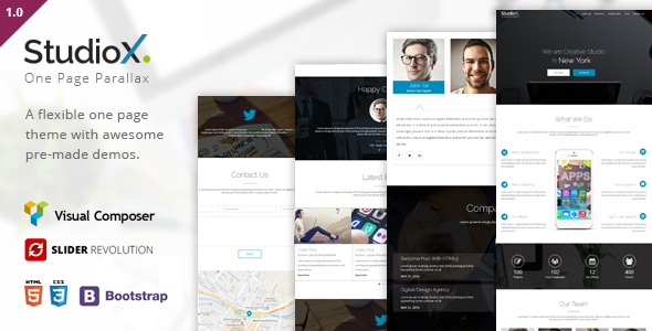 StudioX Preview Wordpress Theme - Rating, Reviews, Preview, Demo & Download