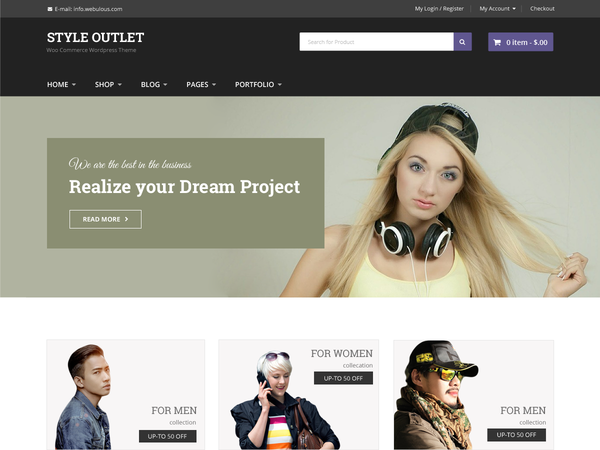 Style Outlet Preview Wordpress Theme - Rating, Reviews, Preview, Demo & Download