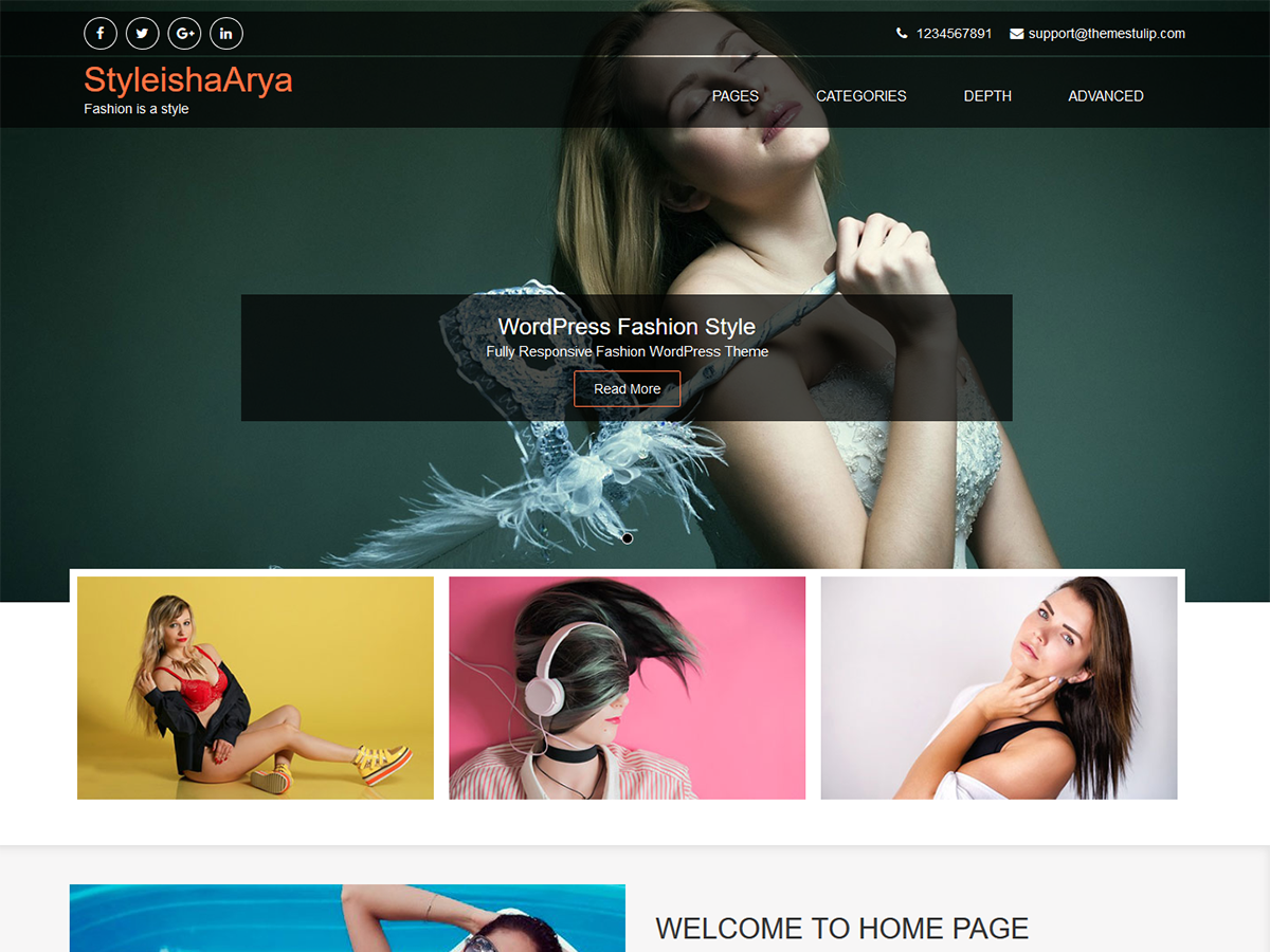 StyleishArya Preview Wordpress Theme - Rating, Reviews, Preview, Demo & Download