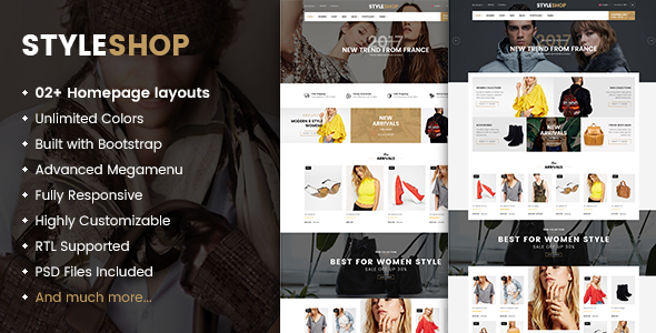StyleShop Preview Wordpress Theme - Rating, Reviews, Preview, Demo & Download