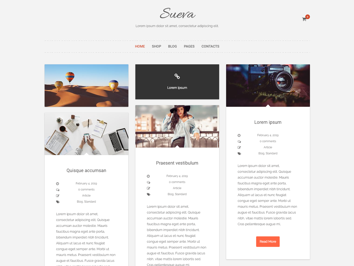 SuevaFree Preview Wordpress Theme - Rating, Reviews, Preview, Demo & Download