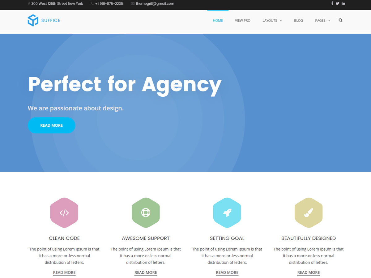 Suffice Preview Wordpress Theme - Rating, Reviews, Preview, Demo & Download