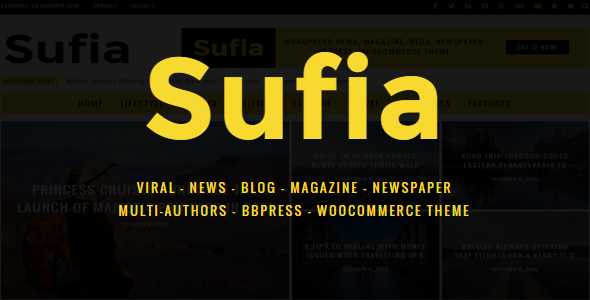 Sufia Preview Wordpress Theme - Rating, Reviews, Preview, Demo & Download