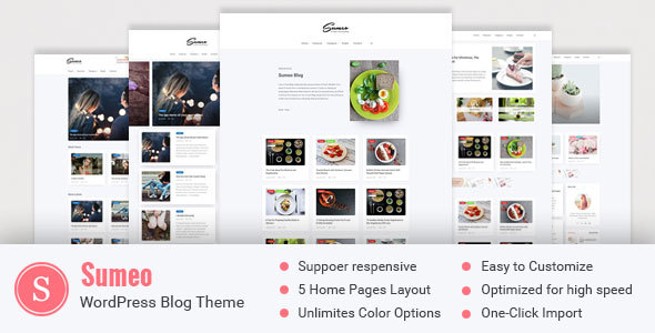 Sumeo Preview Wordpress Theme - Rating, Reviews, Preview, Demo & Download