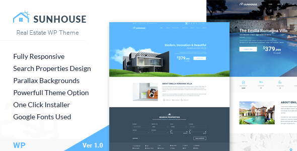 SunHouse Preview Wordpress Theme - Rating, Reviews, Preview, Demo & Download