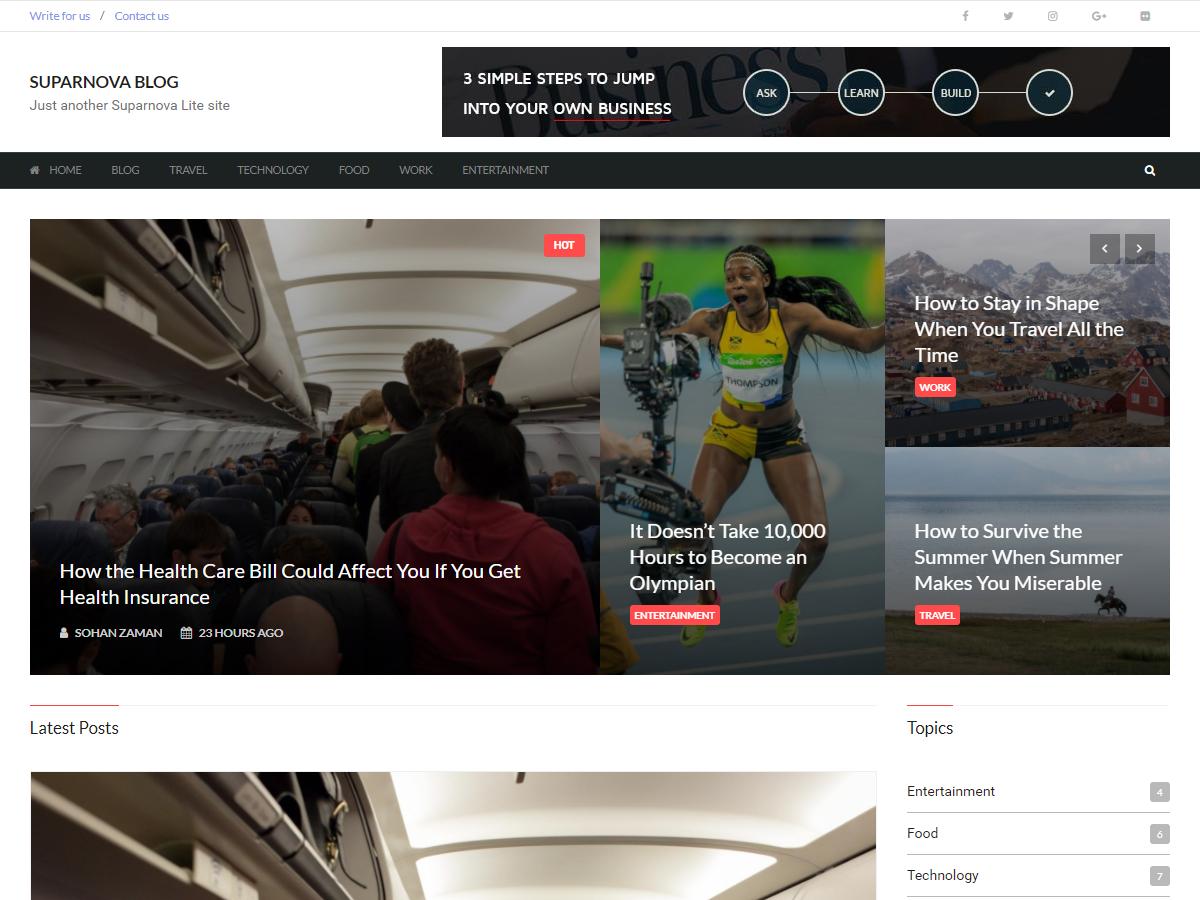Suparnova Lite Preview Wordpress Theme - Rating, Reviews, Preview, Demo & Download