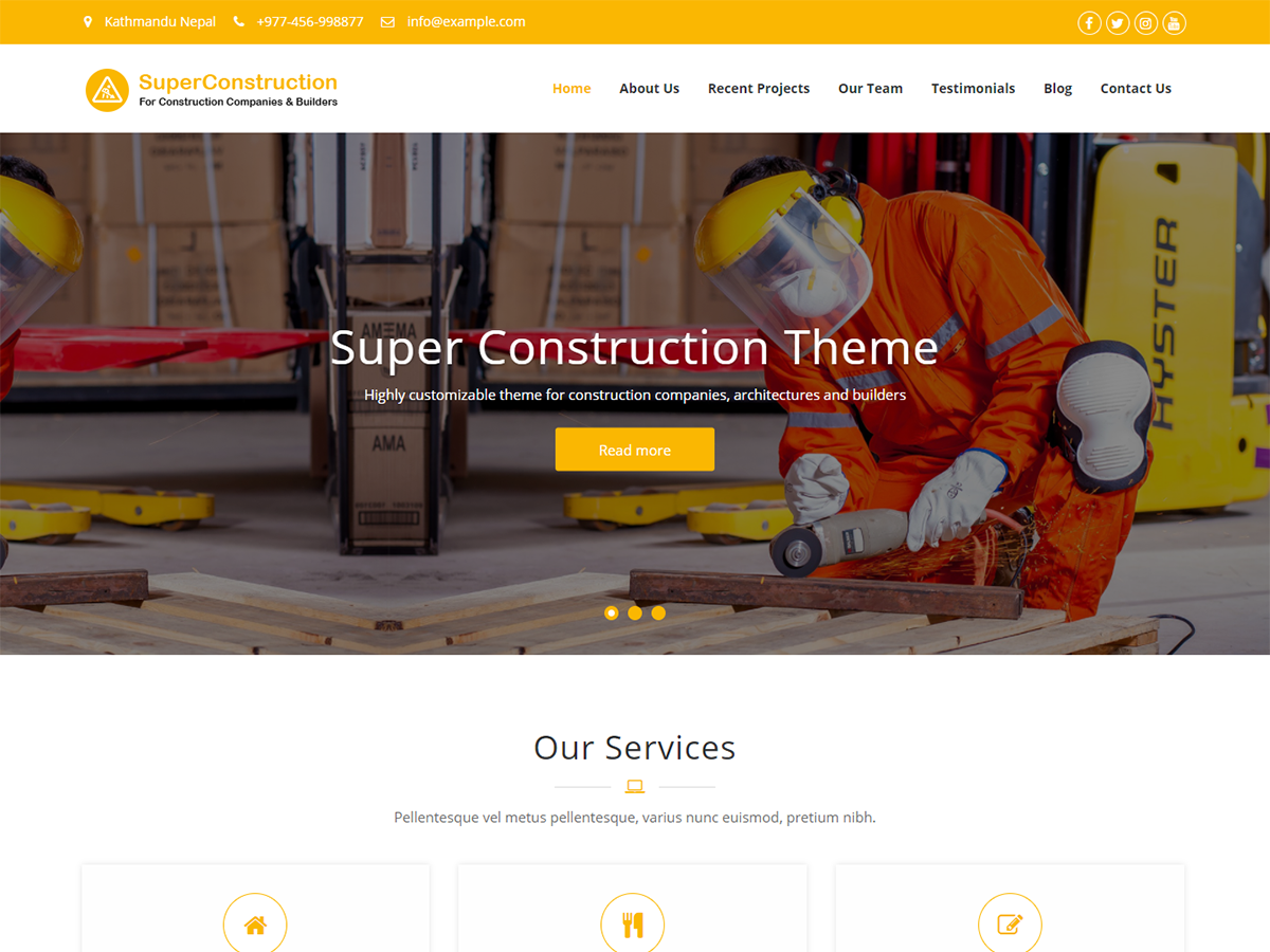 Super Construction Preview Wordpress Theme - Rating, Reviews, Preview, Demo & Download