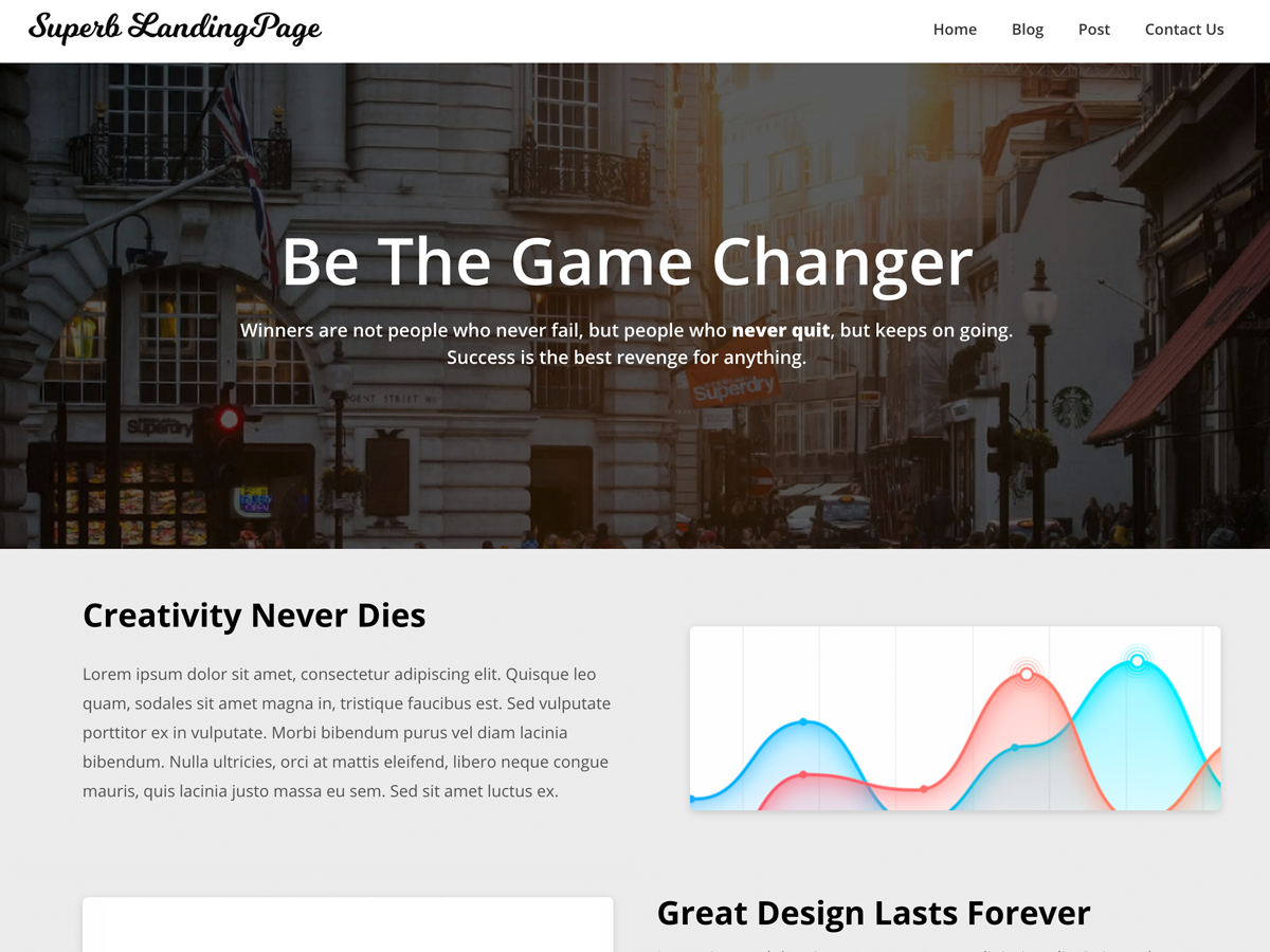 Superb Landingpage Preview Wordpress Theme - Rating, Reviews, Preview, Demo & Download