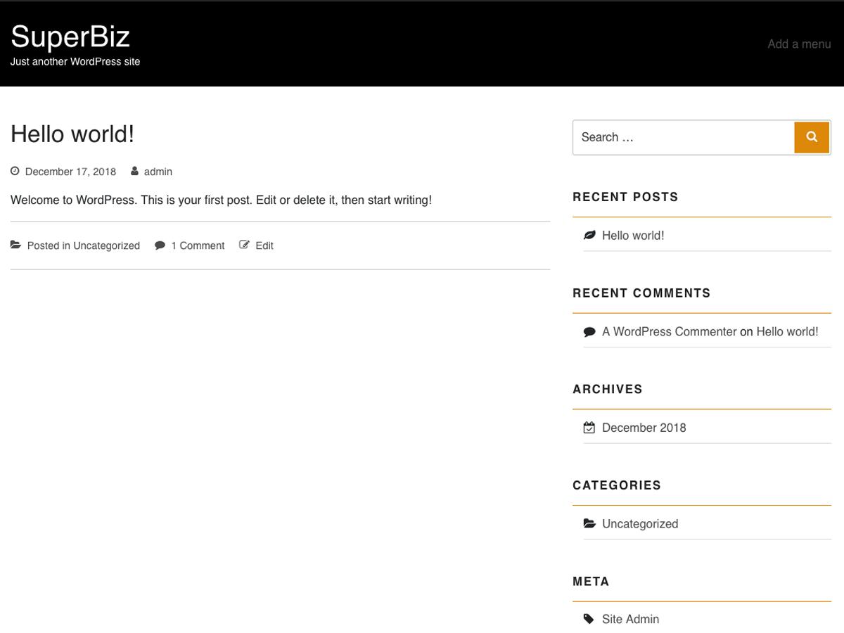 SuperBiz Preview Wordpress Theme - Rating, Reviews, Preview, Demo & Download