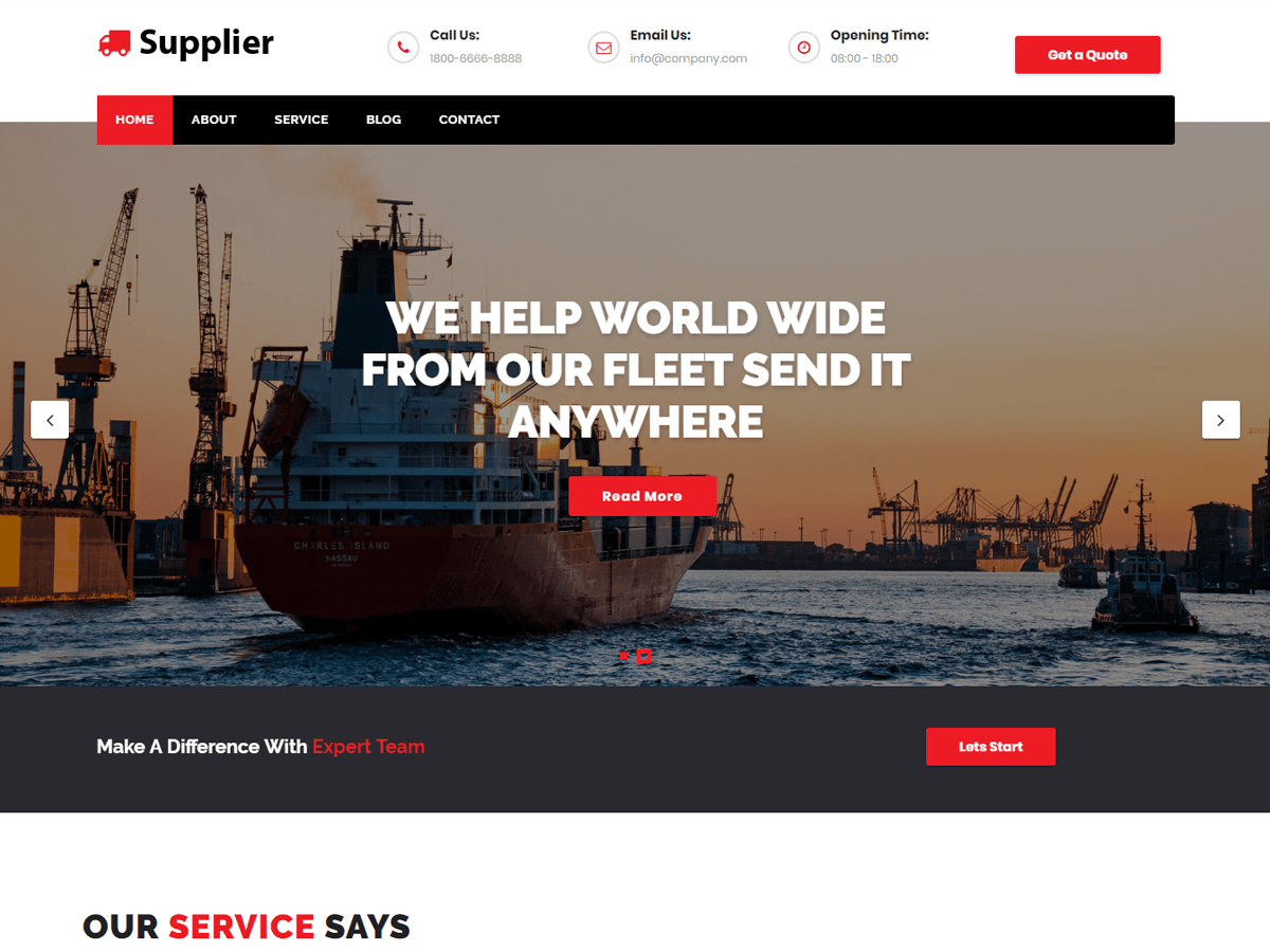 Supplier Preview Wordpress Theme - Rating, Reviews, Preview, Demo & Download