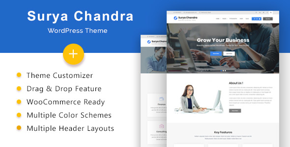 Surya Chandra Preview Wordpress Theme - Rating, Reviews, Preview, Demo & Download