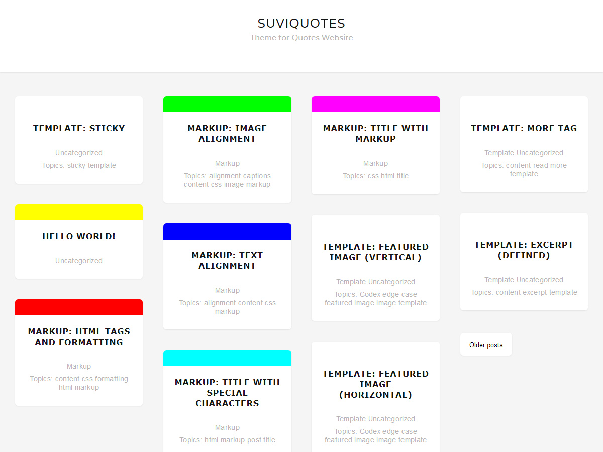 SuviQuotes Preview Wordpress Theme - Rating, Reviews, Preview, Demo & Download