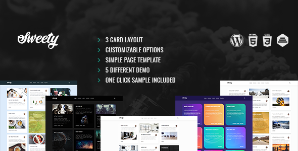 Sweety Preview Wordpress Theme - Rating, Reviews, Preview, Demo & Download