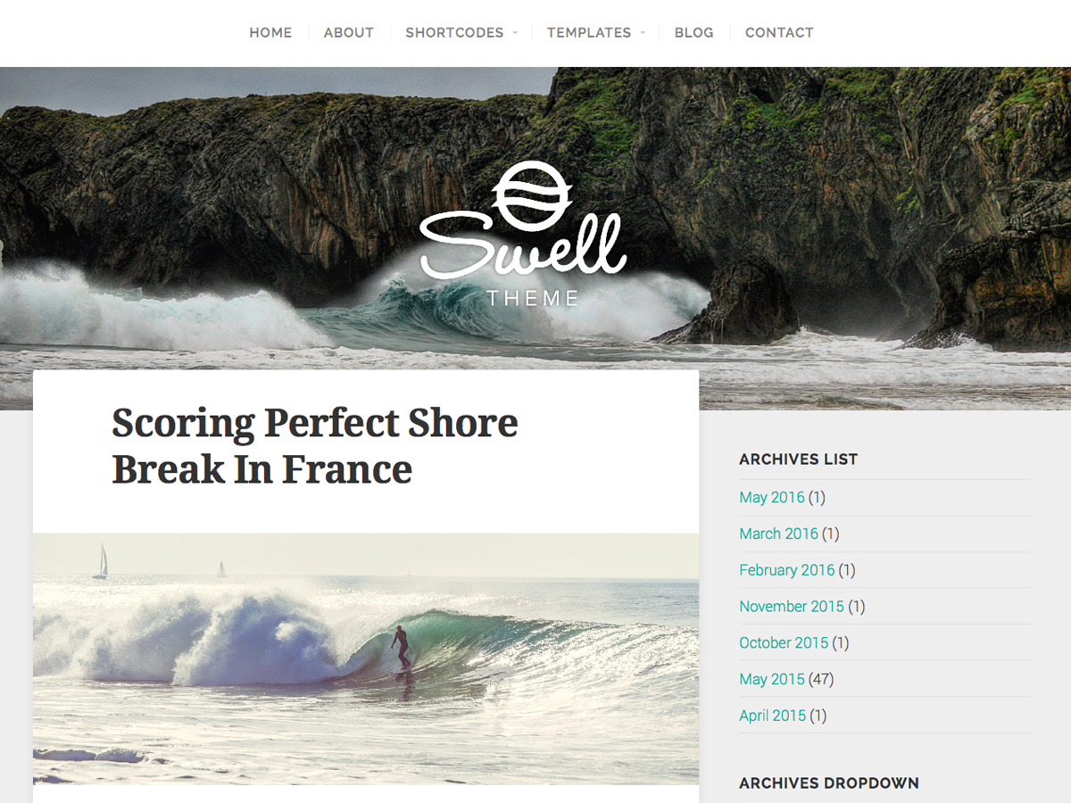 Swell Lite Preview Wordpress Theme - Rating, Reviews, Preview, Demo & Download
