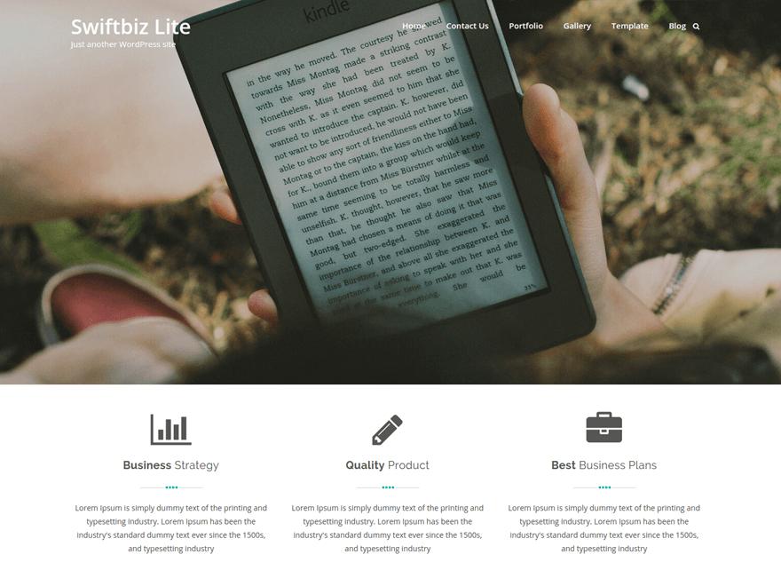 Swiftbiz Lite Preview Wordpress Theme - Rating, Reviews, Preview, Demo & Download