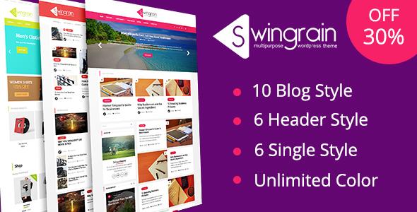 Swingrain Preview Wordpress Theme - Rating, Reviews, Preview, Demo & Download
