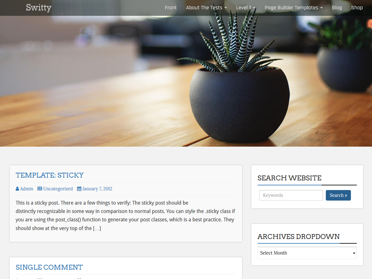 Switty Preview Wordpress Theme - Rating, Reviews, Preview, Demo & Download