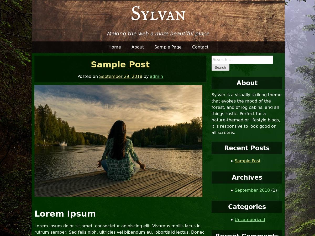 Sylvan Preview Wordpress Theme - Rating, Reviews, Preview, Demo & Download