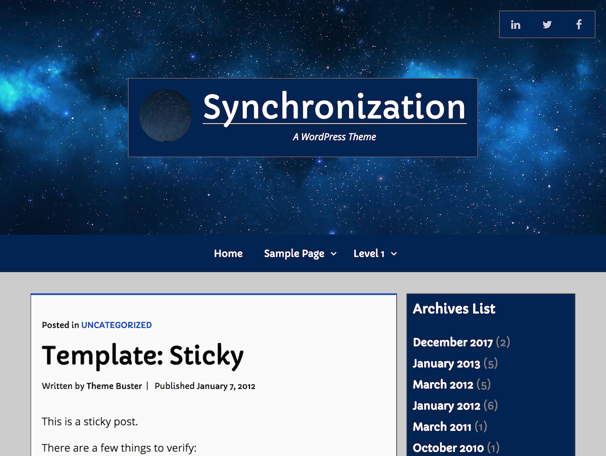 Synchronization Preview Wordpress Theme - Rating, Reviews, Preview, Demo & Download