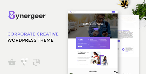 Synergeer Preview Wordpress Theme - Rating, Reviews, Preview, Demo & Download