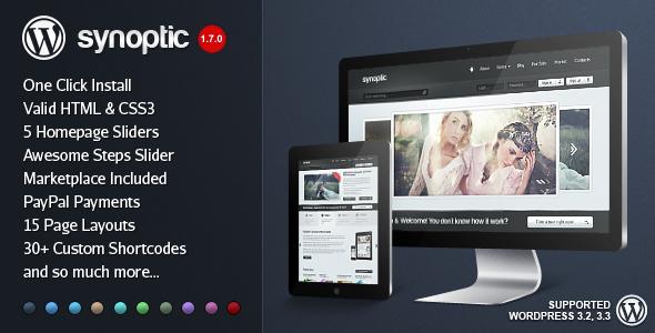 Synoptic Premium Preview Wordpress Theme - Rating, Reviews, Preview, Demo & Download