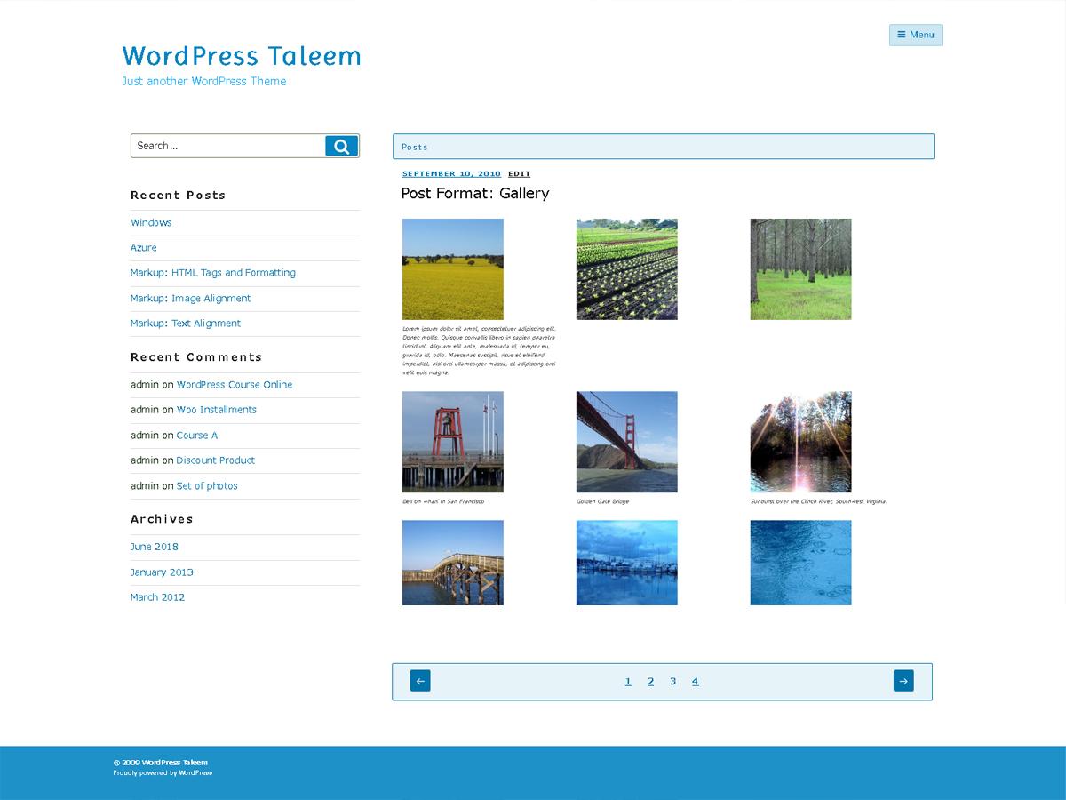 Taleem Preview Wordpress Theme - Rating, Reviews, Preview, Demo & Download