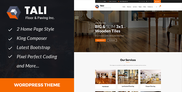 Tali Preview Wordpress Theme - Rating, Reviews, Preview, Demo & Download